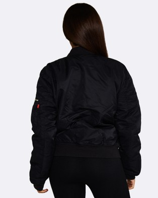 Nicky Kay Reversible Bomber Jacket - Coats & Jackets (Black)