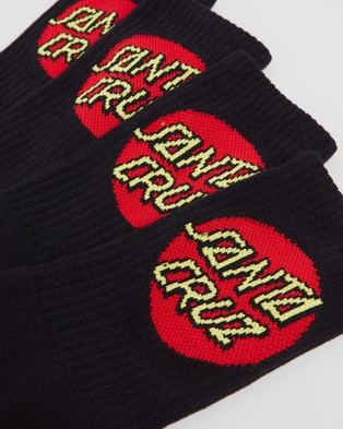 Santa Cruz Cruz Socks   4 Pack - Socks & Tights (Black)