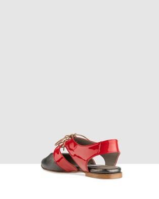 Habbot Ellis Lace Up Sandals - Flats (Red)