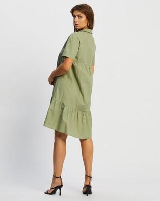 Atmos&Here Malia Mini Dress - Dresses (Khaki)