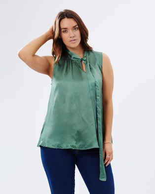 Embody Denim – Margaux Top Green