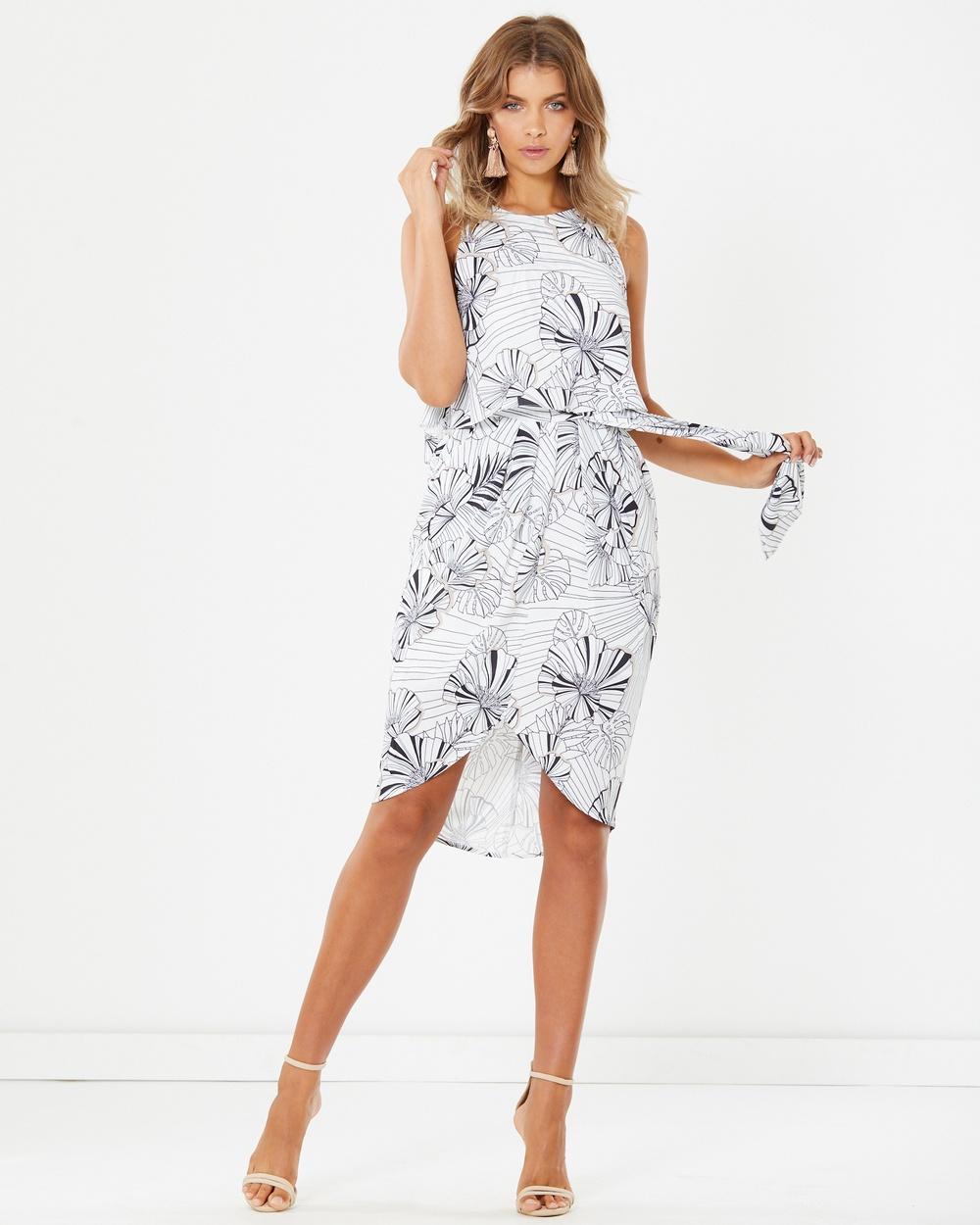 Tussah Delphine Midi Dress Printed Dresses Graphic Tropics Delphine Midi Dress