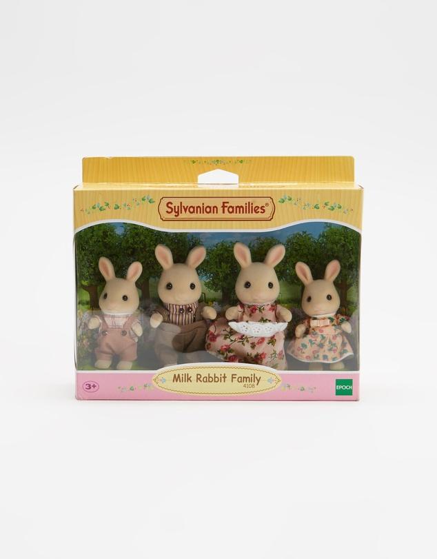 Kids Milk Rabbit Family