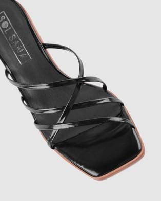 Sol Sana Elora Mules - Sandals (Gloss Black)