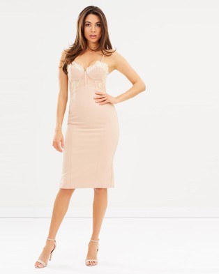 Love Honor – Empress Midi Dress – Bodycon Dresses Brulee