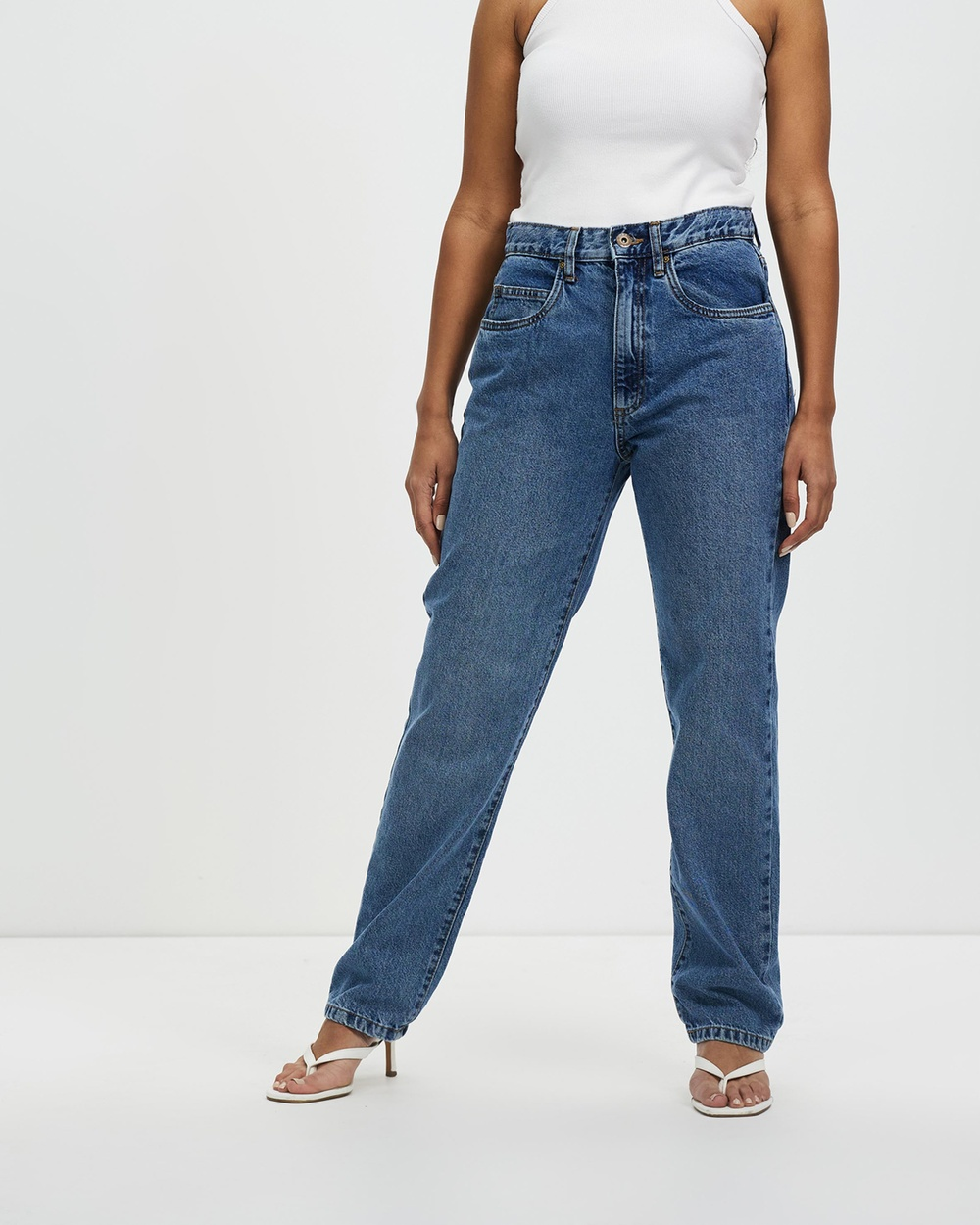 Cotton On Dad Jeans High-Waisted Lucky Blue