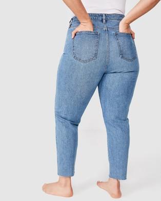 Cotton On Curve Curve Taylor Mom Jeans - Slim (Boston Blue)