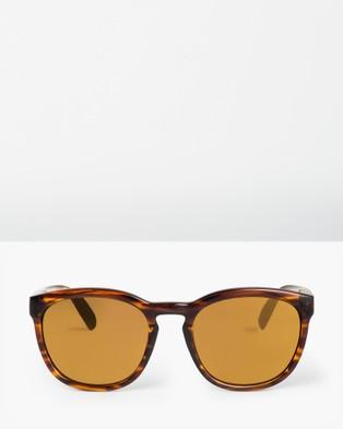 Roxy Womens Kaili Sunglasses - Sunglasses (SHINY HAVANA BROWN/F)