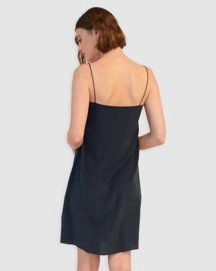 GINIA RTW Grace Silk Dress - Dresses (French Navy)