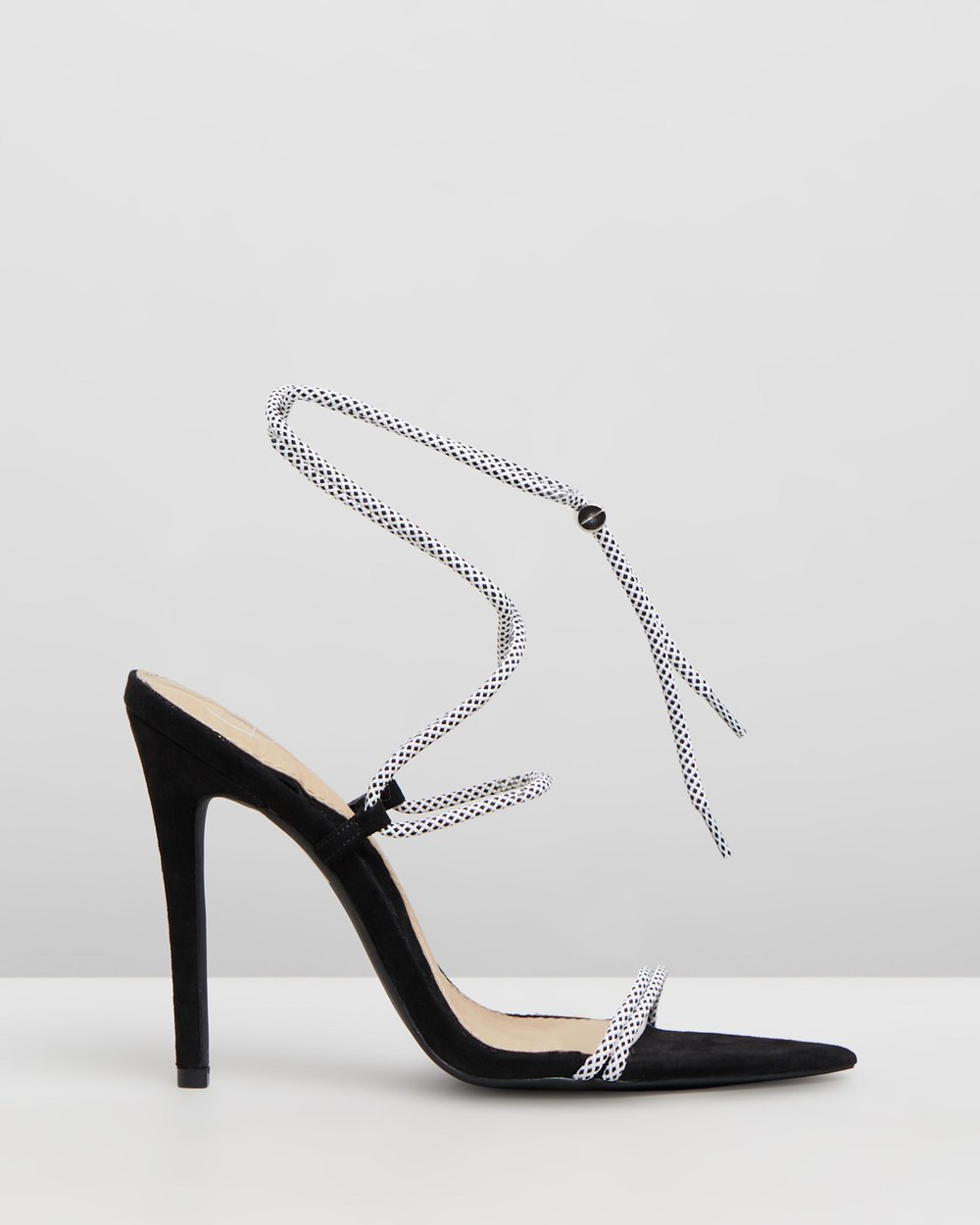 306114482a0 Rope Pointed Toe Heels by Missguided Online