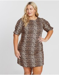 Atmos&Here Curvy - Leopard Print Dress