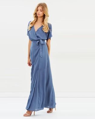 Atmos & Here – Villa Wrap Maxi Dress – Bridesmaid Dresses Summer Blue