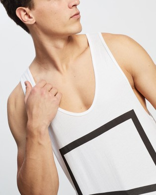 Surrounded By Ghosts The Diopside Logo Singlet - T-Shirts & Singlets (White Logo)
