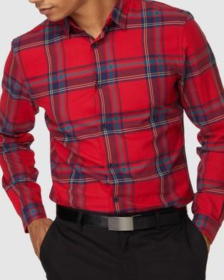 Jack London Keaton Check Shirt - Casual shirts (Red)