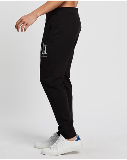 Armani Exchange Embroidered Track Pants Black