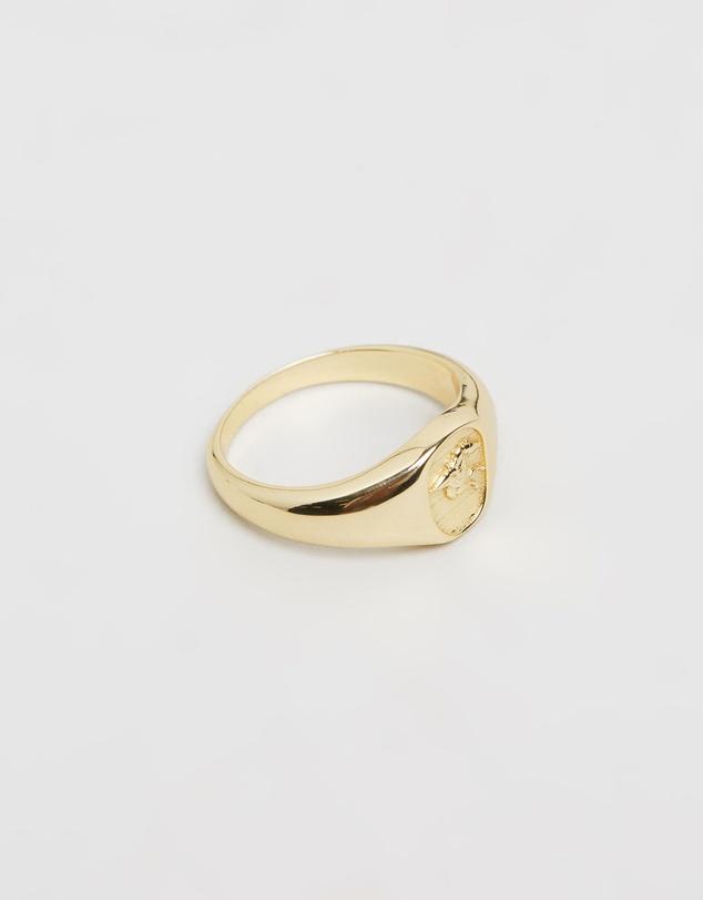 Men Pegasus Signet Ring