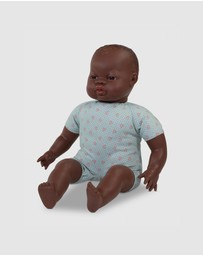 Miniland - Soft Bodied African Doll With Articulated Head