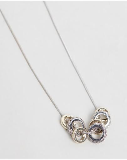 Mestige Oaklyn Necklace With Swarovski® Crystals Silver