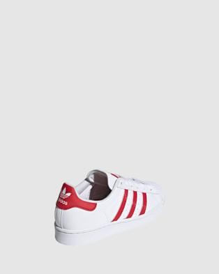 adidas Originals Superstar Heart Grade School - Sneakers (White/Red)