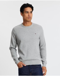 Tommy Hilfiger - Structured Cotton Crew Neck Jumper