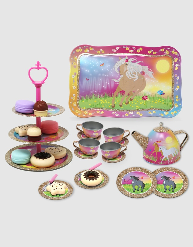 Pink Poppy - Horse Meadow High Tea Set