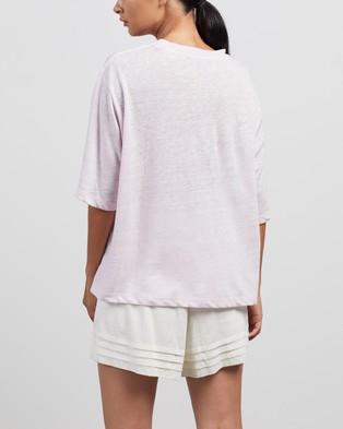 Andrea & Joen Martine Crop Tee - T-Shirts & Singlets (Lilac)