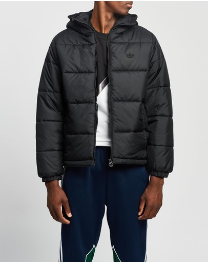 Adidas Originals Padded Hooded Puffer Jacket Black