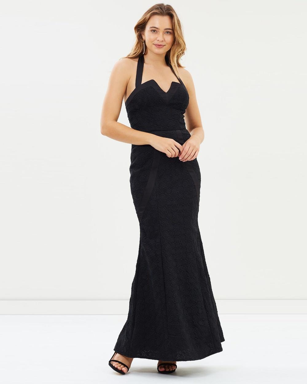 Romance by Honey and Beau Jessica Halter Maxi Dress Dresses Black Jessica Halter Maxi Dress