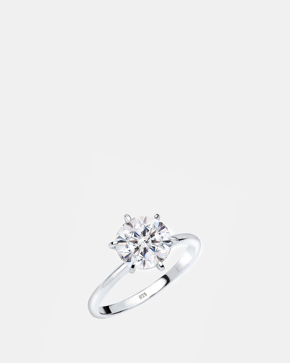 Elli Jewelry Ring Engagement 925 Sterling Silver Crystals Jewellery white