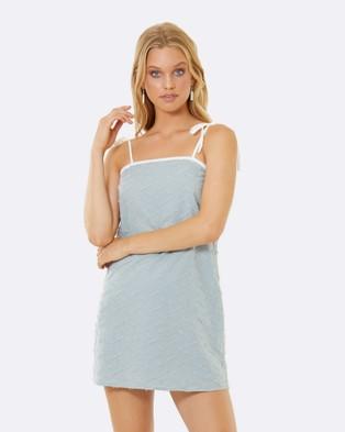 Calli – Sarah Shift Tie Dress Blue