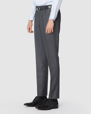 Jack London Charcoal Check Suit Pants - Pants (Multi)