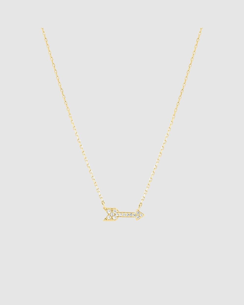 Michael Hill Arrow Necklace in 10ct Yellow Gold Jewellery Yellow