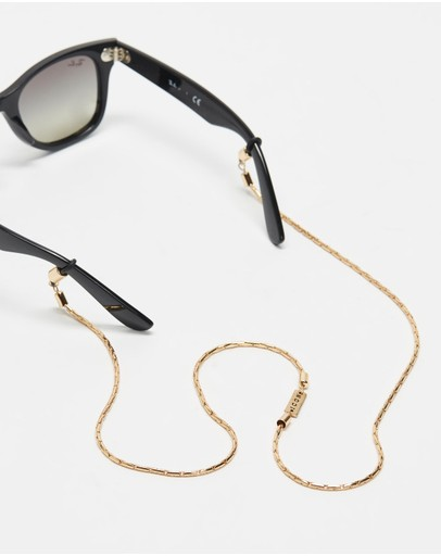 Icon Brand Entity Sunglasses Chain Gold