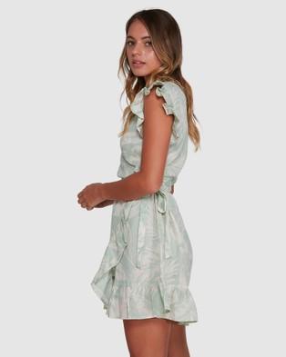 Billabong Haze Wrap Dress - Dresses (GREEN)