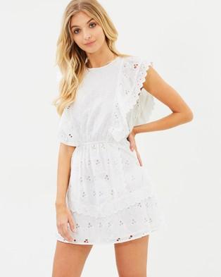 Atmos & Here – Hallie Broderie Dress White