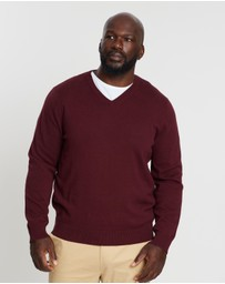 Staple Superior Big & Tall - Staple Big & Tall V Neck Knit