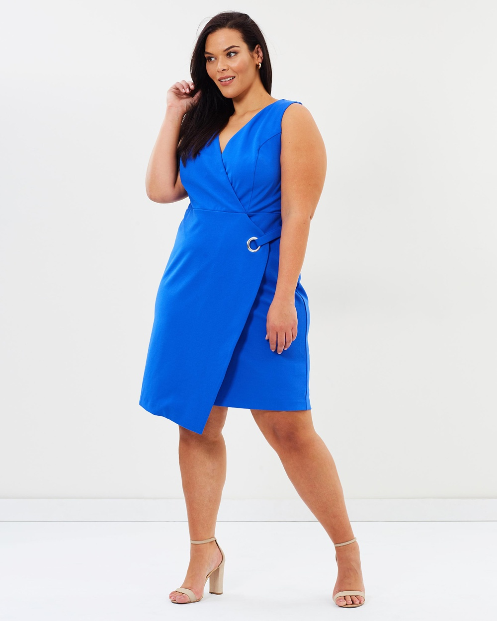 Rebel Wilson x Angels Wrap Dress with Grommet Dresses Blue Ivy Wrap Dress with Grommet