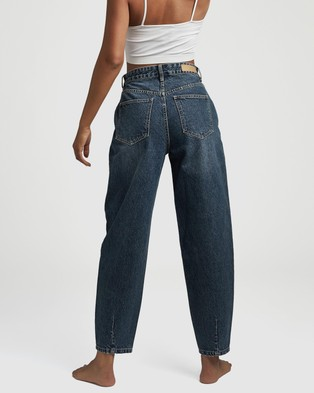 Cotton On Slouch Mom Jeans - High-Waisted (Southside Blue)