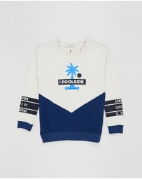 Scotch Shrunk - Colour Block Crew Neck Sweater - Teens