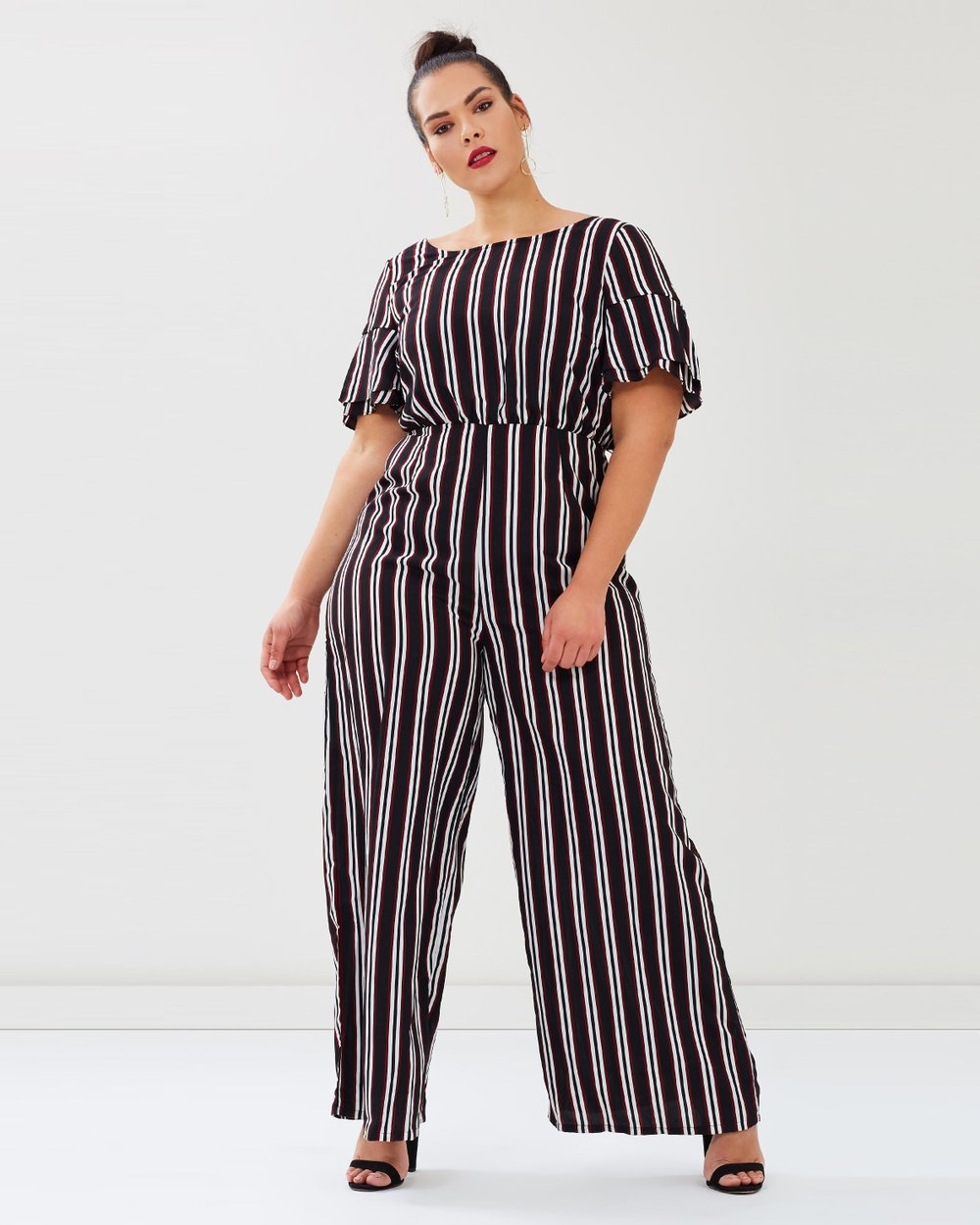 f1cc5c06d198 ICONIC EXCLUSIVE - Edina Wrap Back Jumpsuit by Atmos Here Curvy Online