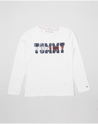 Tommy Hilfiger Kids - Essential Tommy Sequin LS Tee - Teen