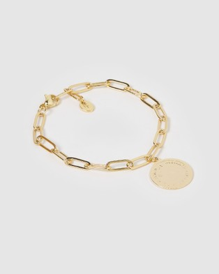 Miz Casa and Co Dolla Coin Bracelet Jewellery Gold
