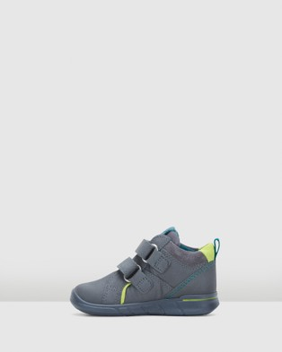 ECCO - First 2 Strap Boots Infant (Grey/Lime)