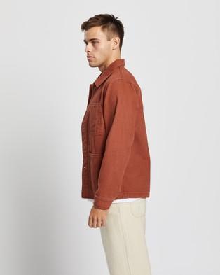 AERE - Organic Twill Chore Jacket - Coats & Jackets (Rust) Organic Twill Chore Jacket