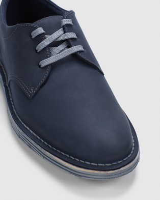 Clarks Forge Vibe - Dress Shoes (Navy Leather)