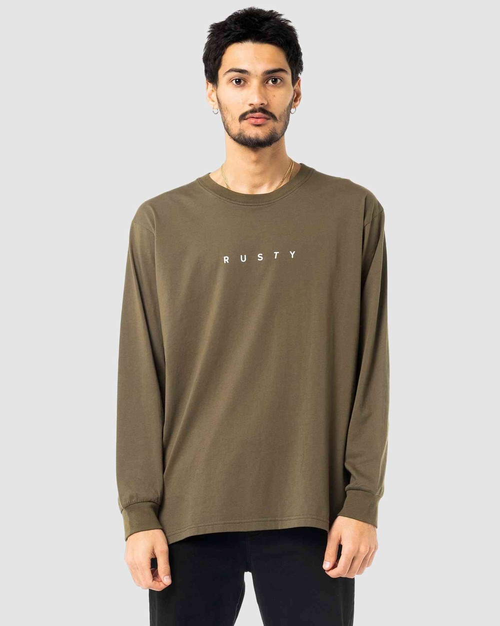 Rusty - Short Cut Long Sleeve Tee - Long Sleeve T-Shirts (GGN) Short Cut Long Sleeve Tee