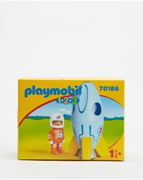 Playmobil - 123 Astronaut with Rocket - Kids