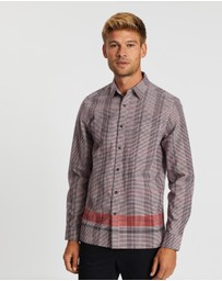 Topman - Hem Border Long Sleeve Shirt
