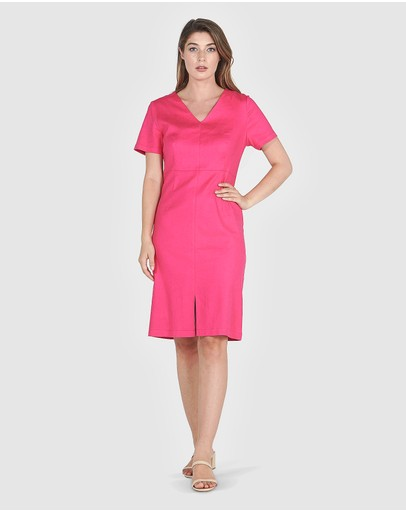 Faye Black Label Julietta Pencil Dress Hot Pink