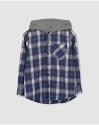 Milky - Hooded Check Shirt - Teen